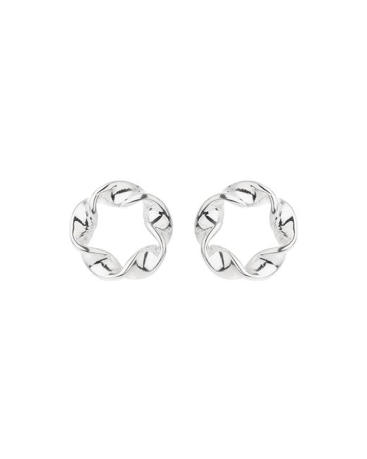 Mikey   Metallic Sterling Silver925 Twist Stud Earring   Lyst
