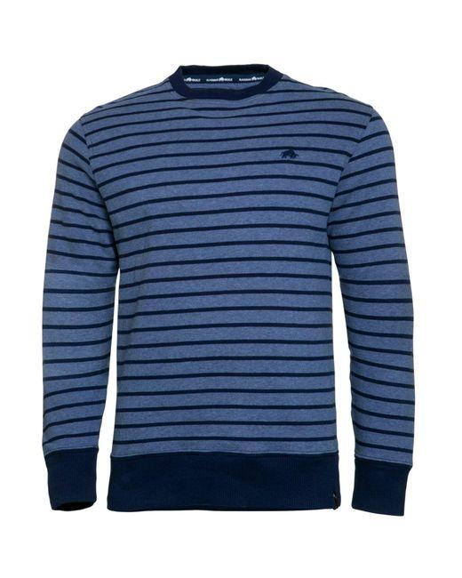 Raging Bull   Blue Big & Tall Stripe Crew Sweater for Men   Lyst