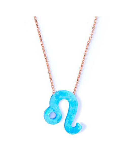 Lucky Eyes | Leo Blue Opal Zodiac Necklace | Lyst