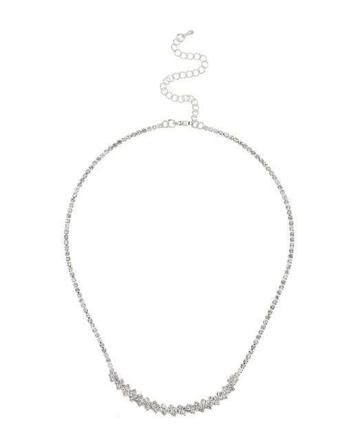 Mikey | Metallic Crytsal Petal Chain Linked Necklace | Lyst