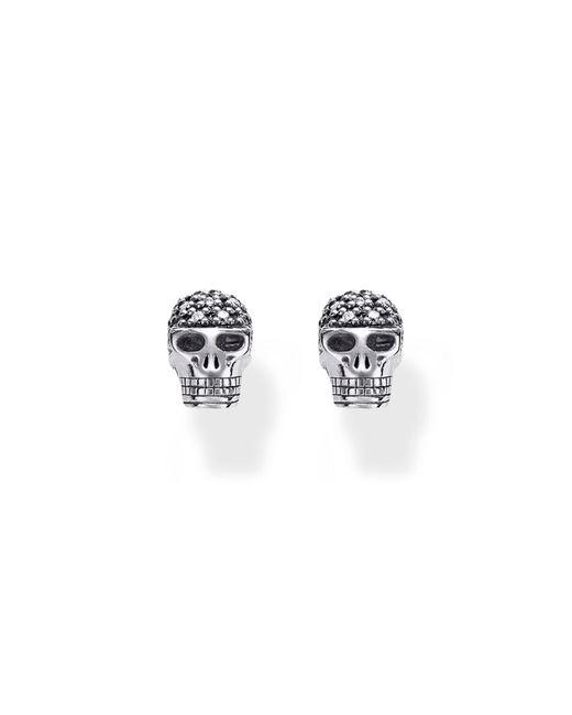 Thomas Sabo   Multicolor Rebel At Heart Skull Diamond Ear Studs   Lyst