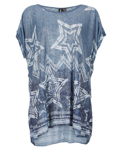 Izabel London   Blue Star Print Smock Top   Lyst