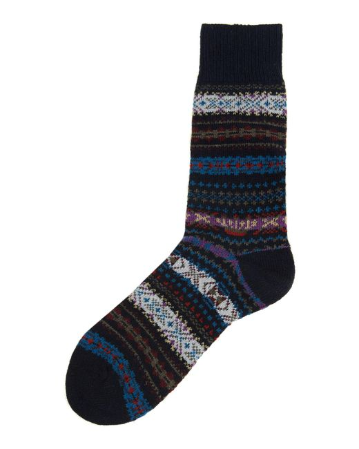 Barbour - Blue Boyd Fairisle Sock for Men - Lyst