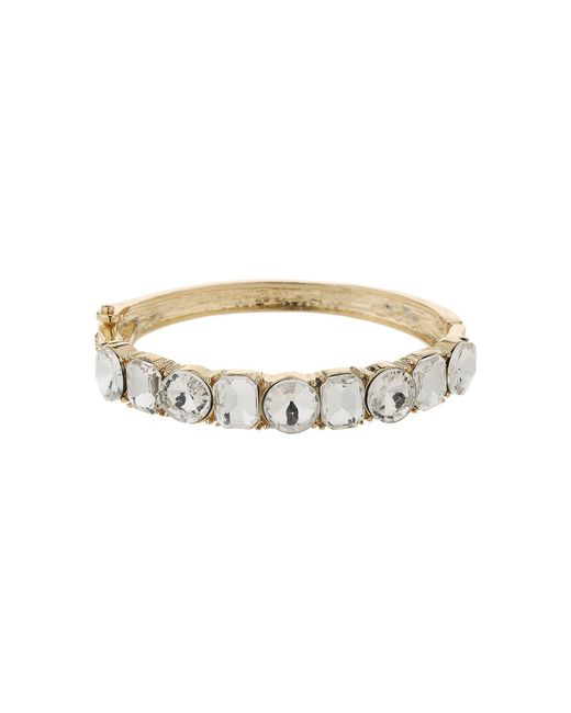 Mikey - Metallic Round Square Crystals Link Bracelet - Lyst