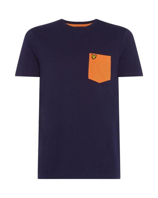 Lyle & Scott - Blue Men's Contrast Pocket T Shirt for Men - Lyst