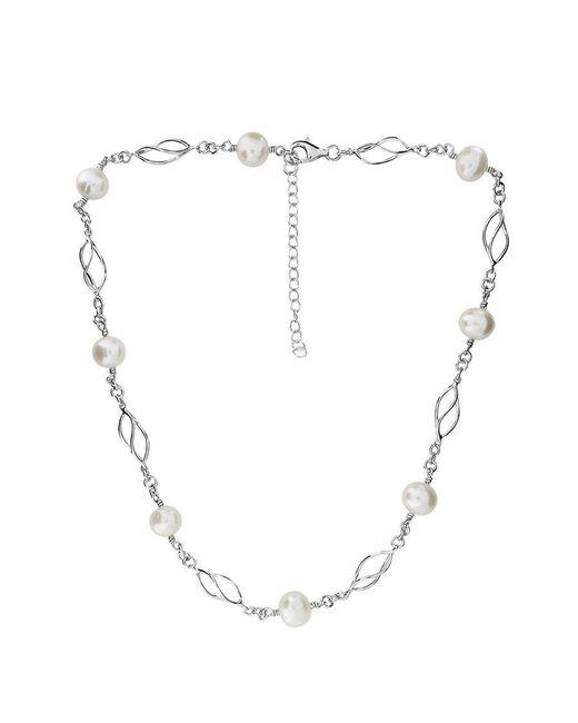 Azendi | Metallic Silver & Pearl Spirals Necklace | Lyst