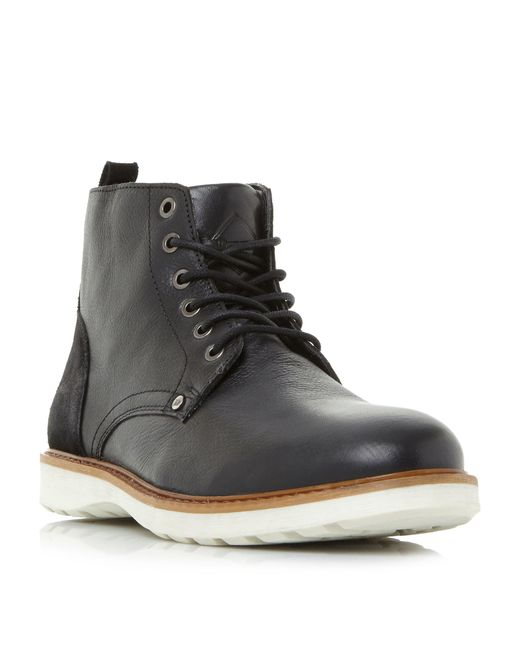 Dune - Black Carlton Wedge Eyelet Casual Chukka Boots for Men - Lyst