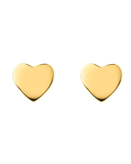 Latelita London | Metallic Mini Heart Stud Earring Gold | Lyst