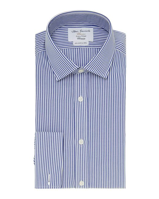 Tm Lewin | Blue Bengal Stripe Fully Fitted Long Sleeve Shirt for Men | Lyst