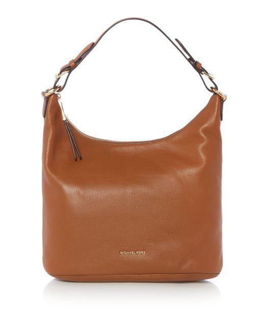 Michael Kors | Purple Lupita Tan Large Hobo Bag | Lyst