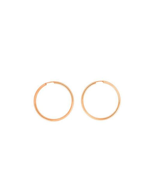 Azendi | Metallic Rose Gold Plated Silver Hoops 3cm | Lyst