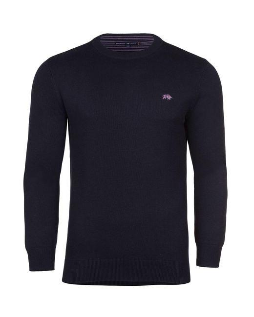 Raging Bull - Blue Men's Cotton/cashmere Crew Neck for Men - Lyst