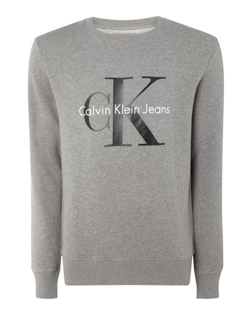 CALVIN KLEIN 205W39NYC - Gray Crew Neck Sweater for Men - Lyst