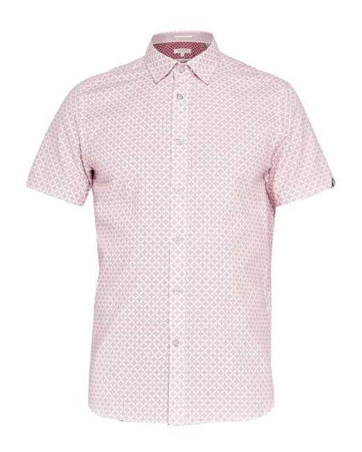 Ted Baker | Pink Angaz Angaz Dot Print Shirt for Men | Lyst