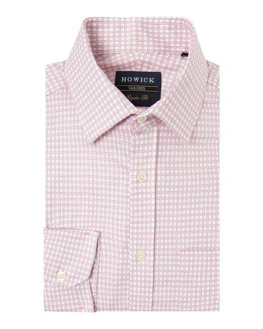 Howick - Pink Brookline Gingham Twill Shirt for Men - Lyst