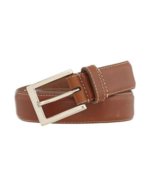 Howick - Brown Leather Stitched Belt for Men - Lyst
