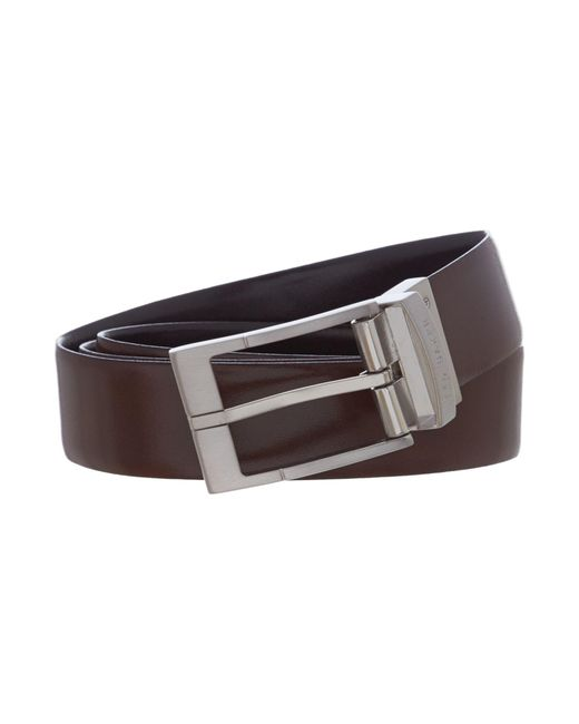 Ted Baker - Black Connary Casual Reversible Leather Belt for Men - Lyst