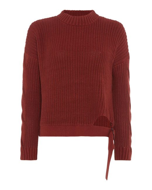 Label Lab - Red D Ring Cropped Jumper - Lyst