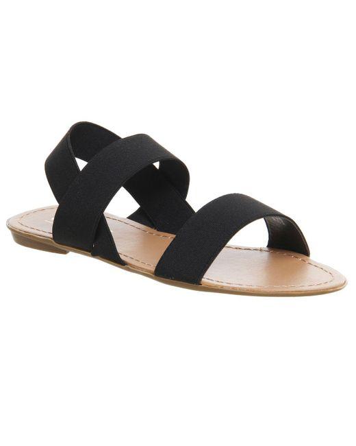 Office - Black Swift Elastic Sandals - Lyst