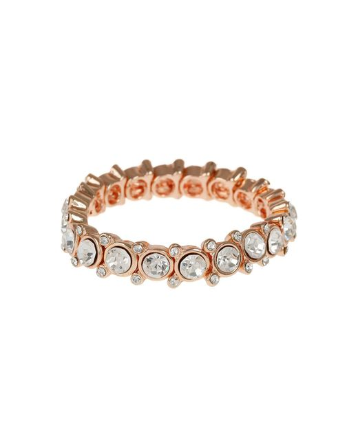 Mikey - Metallic Round Cased Cubic Linked Stones Bracelet - Lyst