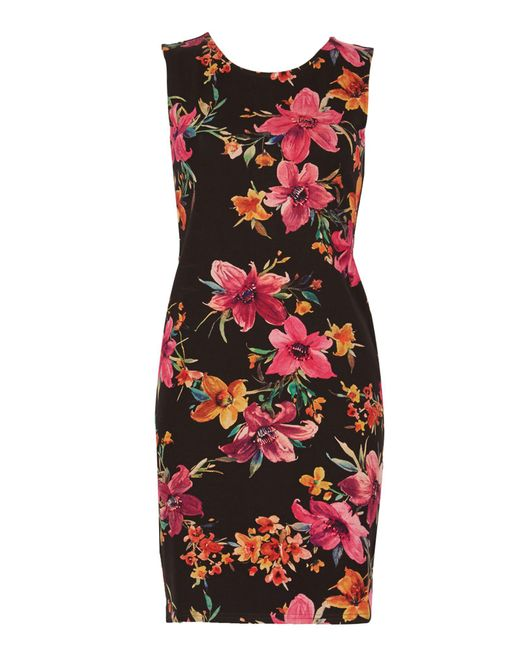 Izabel London | Black Floral Bodycon Dress | Lyst