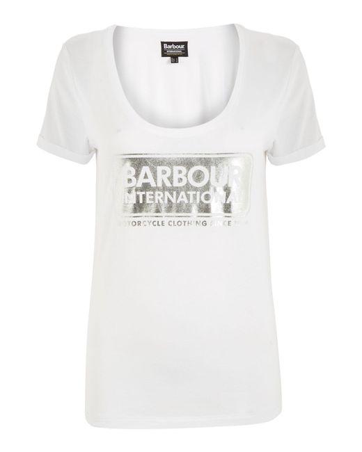 Barbour | White Garvie Tee | Lyst