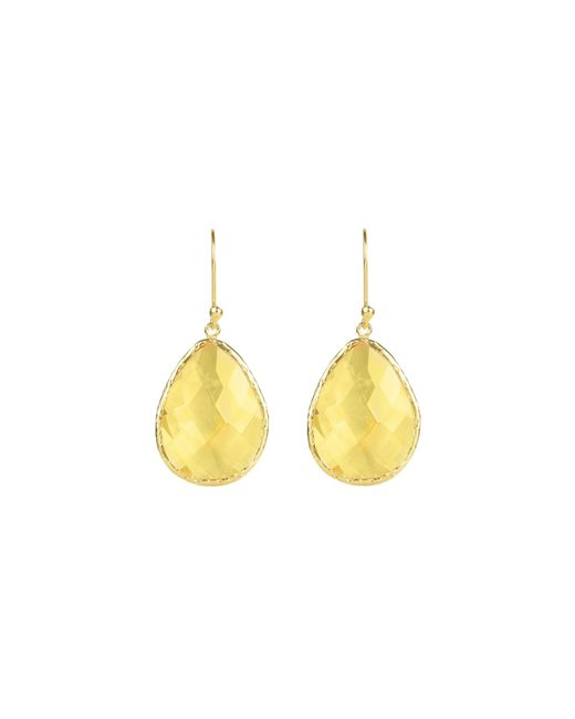 Latelita London | Yellow Drop Earring Gold Citrine | Lyst