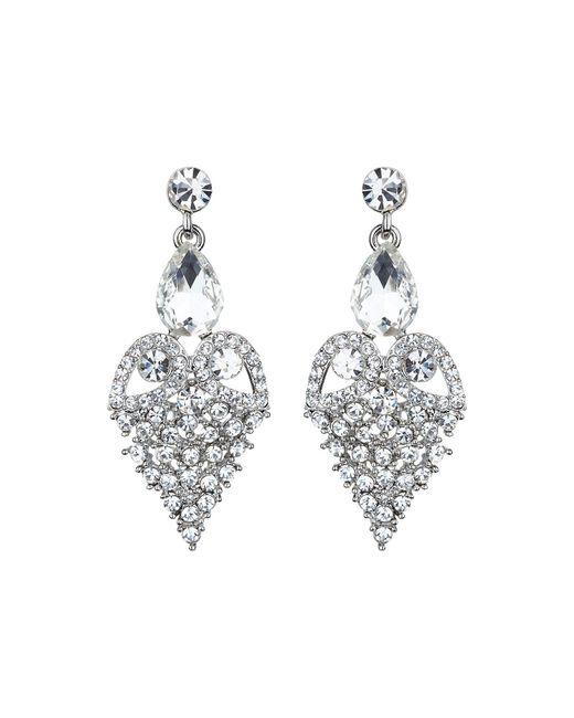 Mikey - Metallic Fruit Crystal Design Drop Earring - Lyst