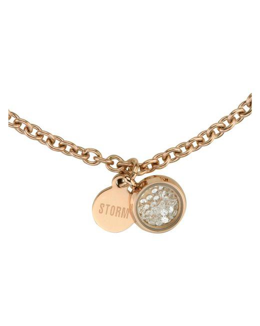 Storm | Metallic Rose Gold Mimi Bracelet | Lyst