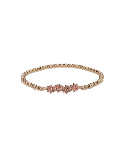 Mikey - Metallic Crystal Flower Elastic Bracelet - Lyst