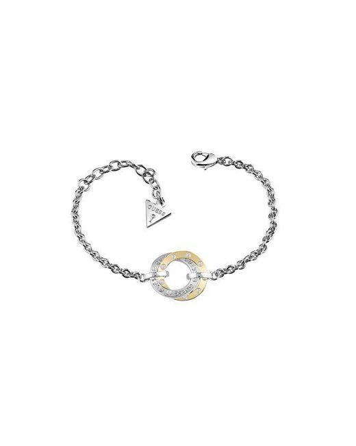 Guess - Metallic E-motions Ubb83067-l Circle Bracelet - Lyst