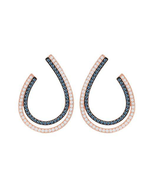 Swarovski - Blue Lemon Hoop Pierced Earrings - Lyst