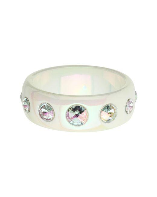 Mikey | Metallic Twin Crystal Oval Bead Bracelet | Lyst