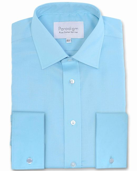 Double Two - Blue Long Sleeve Non Iron Formal Shirt for Men - Lyst