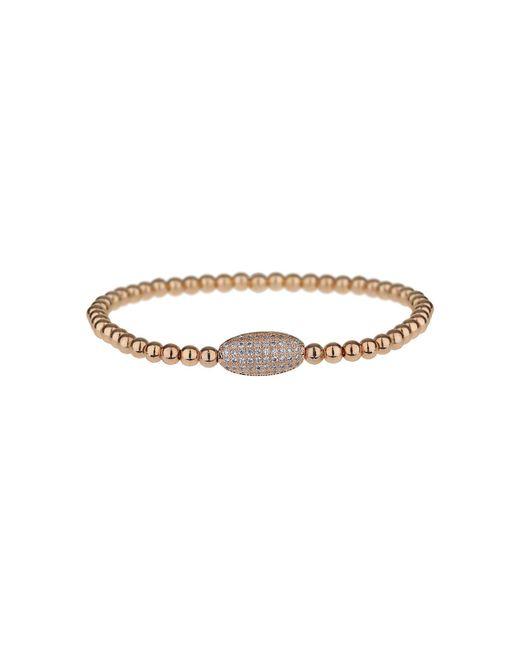Mikey - Metallic Fine Cubic Oval Bead Elastic Bracelet - Lyst