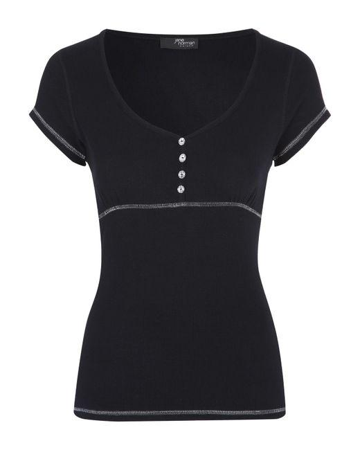 Jane Norman | Black Short Sleeve Top | Lyst