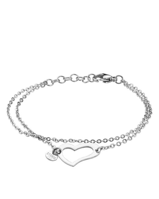 Storm - Metallic Heart Bracelet - Lyst