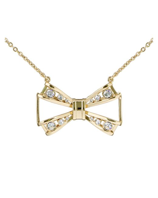 Ted Baker - Metallic Jiao Gold Jewelled Bow Pendant - Lyst
