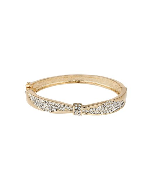 Mikey - Metallic Centre Pinch Cubic Bangle Bracelet - Lyst