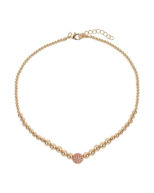 Mikey - Metallic Fine Cubic 12mm Ball Metal Necklace - Lyst