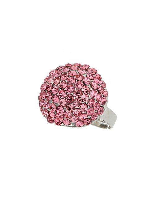 Mikey | Pink Round Ring | Lyst