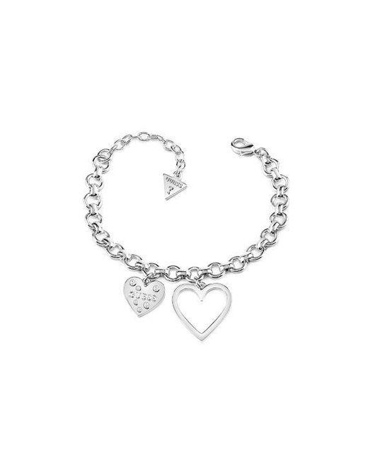 Guess - Metallic Heart In Heart Bracelet - Lyst