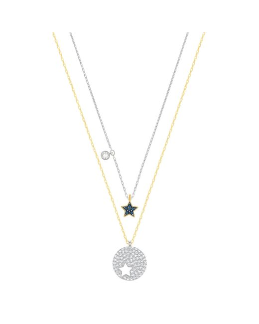 Swarovski | Metallic Wishes Star Pendant Set | Lyst