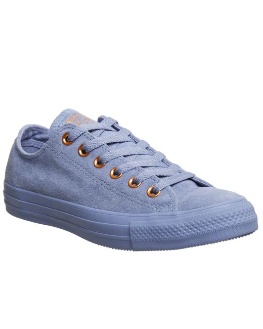 Converse | Blue Allstar Low Leather Trainers | Lyst