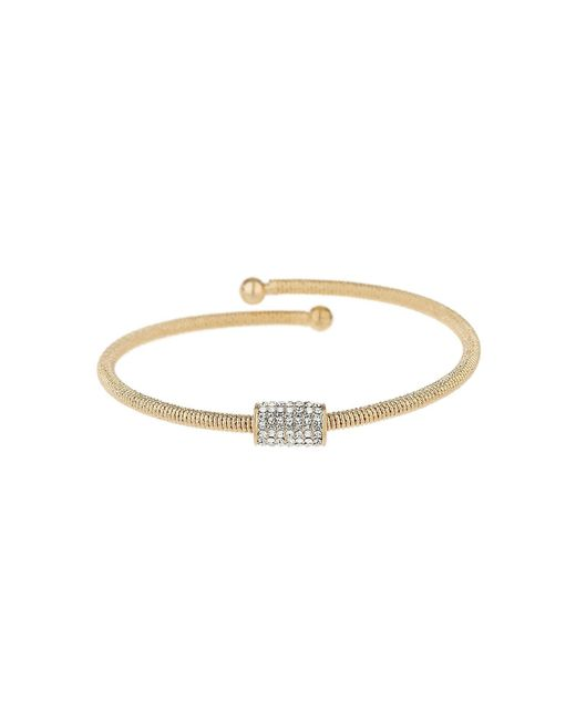 Mikey - Metallic Crystal Embed Tube Spring Bracelet - Lyst