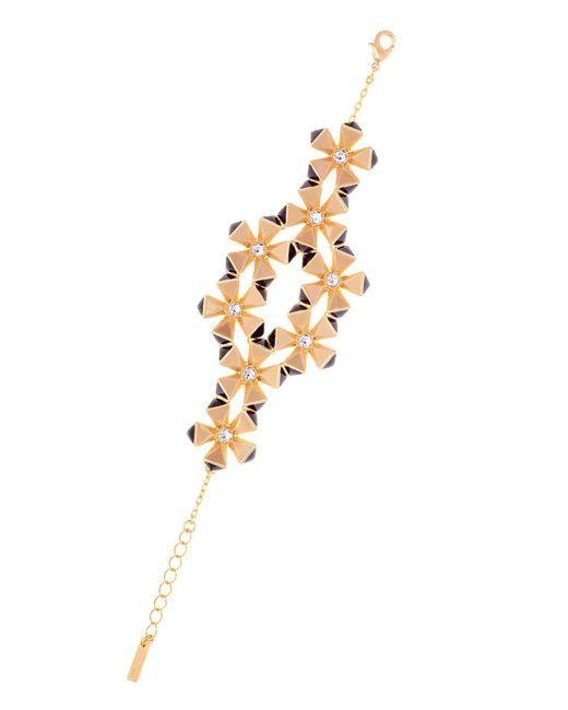 Karen Millen   Metallic Geo Flower Bracelet   Lyst