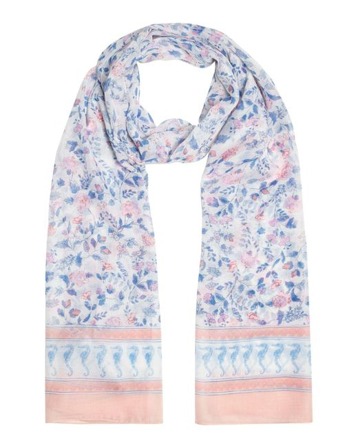 Joules - Blue Wensley Long Scarf - Lyst