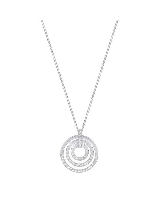 Swarovski   Metallic Circle Pendant   Lyst
