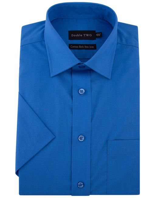 Double Two - Blue Short-sleeved Shirt for Men - Lyst