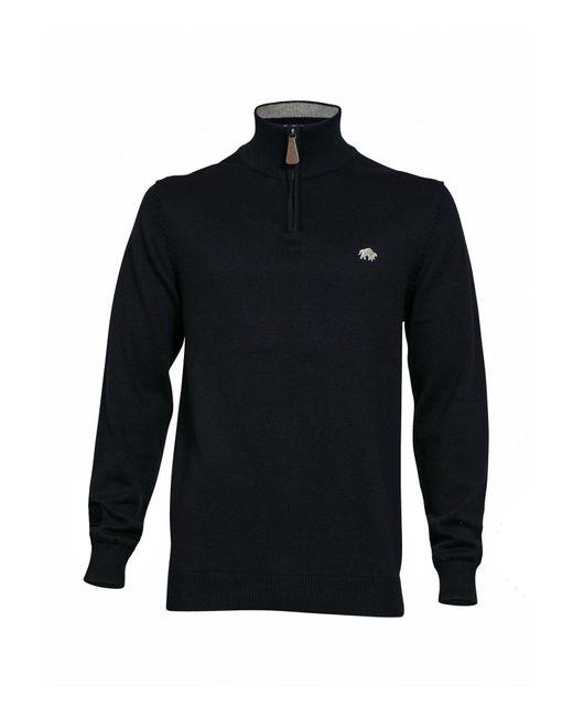 Raging Bull - Blue Big & Tall Knitted Quarter Zip Neck for Men - Lyst